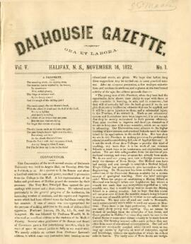 Dalhousie Gazette, Volume 5, Issue 1