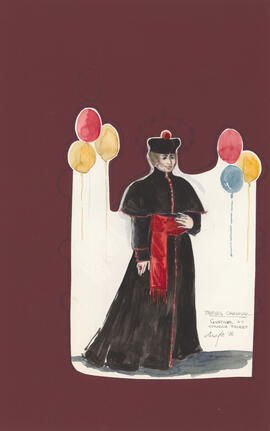 Costume design for Gustave as a Spanish priest