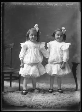 Photograph of the daughters of Mrs. Woodin