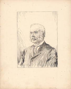 Andrew Walker Herdman Lindsay, M.D. Secretary of the Faculty of Medicine, 1885–1915 : [drawing]