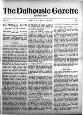The Dalhousie Gazette, Volume 52, Issue 1