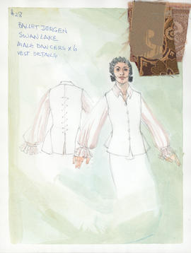 Costume design for male dancers : vest details