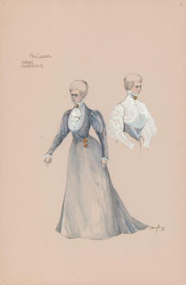 Costume design for Mrs. Gabor