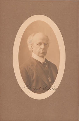 Prime Minister Wilfred Laurier : [autographed photograph]