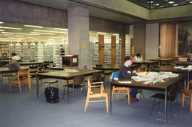 Photograph of a stack reading area at the Killam Memorial Library, Dalhousie University