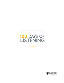 100 days of listening : final report