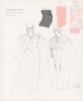 Costume design for lady at ball, Maria