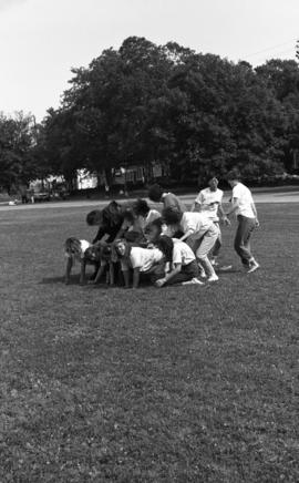 Photograph of an Orientation Week event in 1988