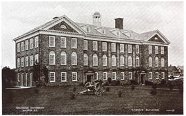 Postcard of the Science Building at Dalhousie University