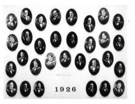 Composite photograph of the Faculty of Medicine class of 1926