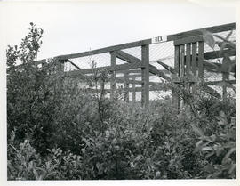 Photograph of abandoned RCMP dog pens in Fort Chimo, Quebec