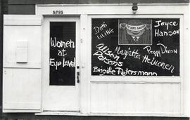 Photograph of Eye Level Gallery exterior during Women at Eye Level group exhibition