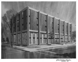 Drawing of the Weldon Law Building exterior
