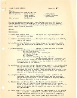 Minutes from a Board meeting held on September 25, 1975