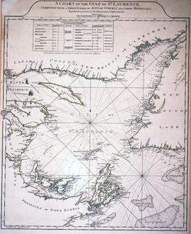 Chart of the Gulf of Saint Lawrence
