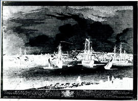 Photographic print of a negative of Halifax and the harbour viewed opposite from Dartmouth