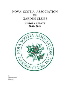 Nova Scotia Association of Garden Clubs history
