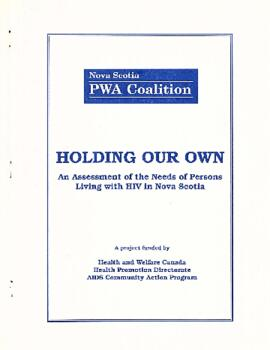 Holding our own: An assessment of the needs of persons living with HIV in Nova Scotia