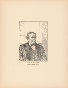 Charles Macdonald, M.A. Professor of mathematics, 1863–1901 : [print]