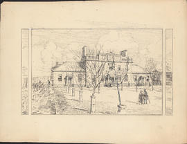 The original Dalhousie College, 1820–1887. Situated on the Grand Parade : [drawing]
