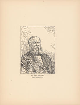 Rev. James Ross, D.D. Second president, 1863–1885 : [print]