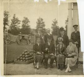 Photograph of a group of people at Fort Anne, Annapolis Royal at the First English Reading of Har...