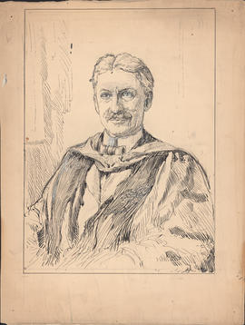Arthur Lismer portrait of Arthur Stanley Mackenzie commissioned for One hundred years of Dalhousie, 1818–1918 : [drawing]