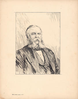 Rev. James Ross, D.D. Second president, 1863–1885 : [drawing]